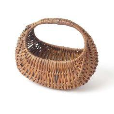 Vtg hen basket primitive woven splint rustic farmhouse egg gathering wicker #primitive #baskets #primitives #vintage #farmhouse #homedecor #farmhousedecor #country #rustic