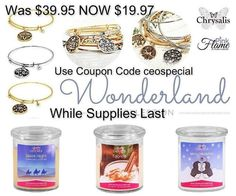 Hurry!!! These are almost all gone! Find these winter Wonderland #candles in the Lights Out section of my site. Use this coupon code at checkout: ceospecial  http://ift.tt/1mLfunp  #jewelryincandles