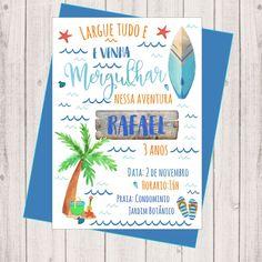 Decoration, Surfing, Design, Invitation Ideas, Invitation Birthday, Surfer Party, Surfer Boys, Baby Boy Birthday, First Tattoo