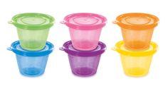 dBb Remond Set de 6 Petits Pots avec Couvercles - Assortis