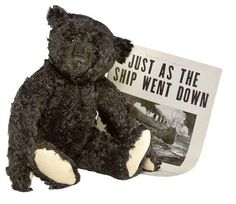 Steiff Titanic Bear. I would love an original but they made a really cute replica too.