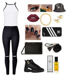 """Untitled #196"" by urbanfashionstyle ❤ liked on Polyvore featuring Lime Crime, Chanel, Tory Burch, Yoko London, adidas, Miss Selfridge, WithChic and MICHAEL Michael Kors"