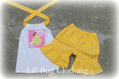 Custom Boutique Clothing Princess  Belle Short by LilBugsClothing, $29.99