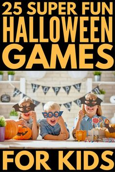 If you're throwing a Halloween party either at school or at home, finding the perfect Halloween games for kids is a MUST to keep your guests entertained and happy. That's why we've rounded up 25 easy DIY Halloween games that will provide endless hours of