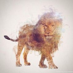 Wild Animals, Smoke And Nature Merged In My Double Exposure Photos | From th3pictures