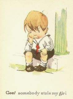 """Gee! Somebody stole my girl."" ~ Charles Twelvetrees illustration"