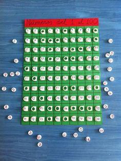 Del 1 al 100 y si a la base le añadimos un marco con las tablas nos serviría también para las tablas de multiplicar. Kids Learning Activities, Toddler Learning, Learning Tools, Math For Kids, Puzzles For Kids, Reggio Emilia Classroom, Math Manipulatives, Math School, Teaching Time