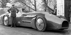 0430 ADVENTURE Bluebird…Library file picture dated1/1/1933 of Sir Malcolm Campbell with his new 'Bluebird' car, 1933….A