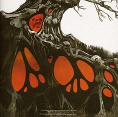 """Roger Dean """"Earth and Fire"""" Album cover art."""