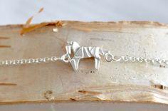 Origami Horse Charm Bracelet