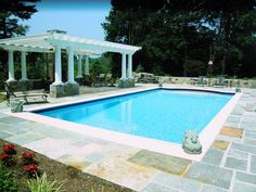 pool automatic cover rectangle | outdoor rectangle swimming pool with automatic cover, pergola ...