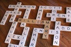 Tutorials: Grandma's Scrabble Wall Art