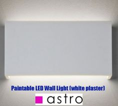 Paintable Wall Lights - Ceramic and Plaster Lights