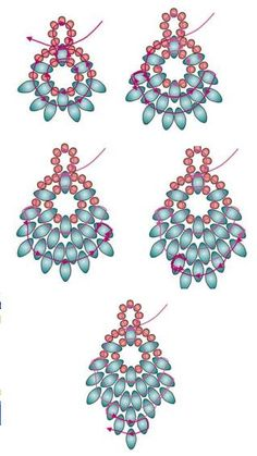 GLISTENING OAK Earrings - FREE Pattern by Fusion beads. Also in PDF form on the…