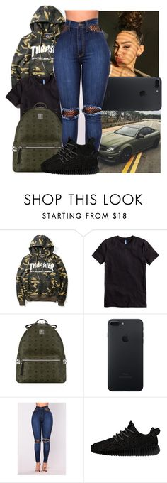 """""""Thrasher."""" by xo-reese-xo ❤ liked on Polyvore featuring H&M, MCM and adidas Originals"""