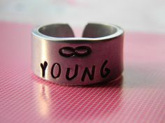 #lindamunequitaArtfire on Artfire                   #ring                     #forever #young #inch #cuff #style #aluminum #ring  forever young 3/8 inch cuff style aluminum ring                               http://www.seapai.com/product.aspx?PID=967732