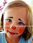 Cute clown Face Painting