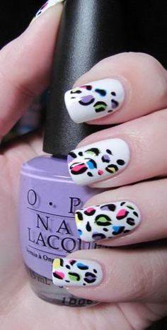 Nails. Leopard. Colour.