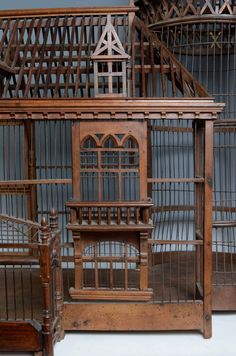 19th Century Carpenter Masterpiece Bird Cage - Detail http://www.1stdibs.com/furniture/more-furniture-collectibles/bird-cages/
