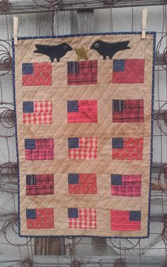 Simply Flags and Crows quiltsbycheri