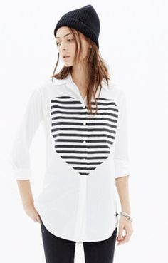 Heartbeat Oversized Button-Down Shirt #GIFTWELL #SWEEPS