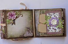 Moments Mini Album by Jo Piccirilli - Gorgeous!!! Shades of purple