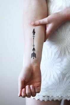 Arrow temporary tattoo - a temporary tattoo by Tattoorary