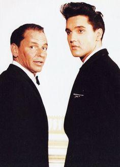 Elvis Presley — takingcare-of-business:   Frank Sinatra and Elvis...
