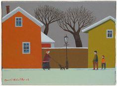 Pentti Koivikko: Talvi Paul Klee, Naive Art, Sorting, Painters, Finland, Illustrations, Artists, Snow, Drawings