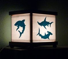 Shark Night Light Ocean Blue Sharks Lighting Decor by babymamma1