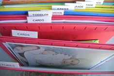 The BEST way to get your kids' papers organized once and for all!