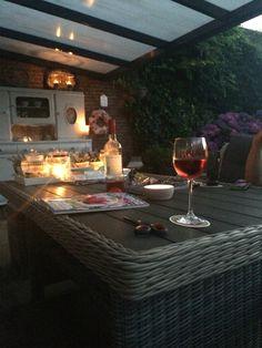 Avond buiten zomer