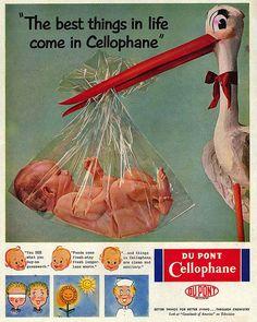 Vintage annonces Cellophane bébé