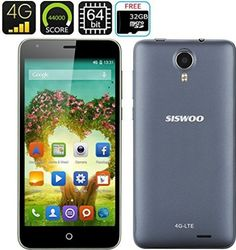 SISWOO Cooper i7 Smartphone - 4G, MTK6752 64 Bit Octa Core CPU, Over 44000 on the CPU Benchmark Test, Free 32GB Micro SD Card - For Sale