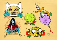 Tattoo Flash Sheets, adventure time tattoo #tattoossketch #sketch #design #tattoodesign