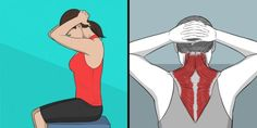 9 Stretching Exercises That Can Replace a Massage Session – Green Challenge Upper Back Stretches, Back Stretching, Stretching Exercises, Chest Muscles, Core Muscles, Back Muscles, Dor Cervical, Neck And Shoulder Exercises, Yoga Exercises