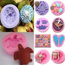 New 3D Silicone Fondant Embossing Mold Sugarcraft Baking Tools Cake Decorating