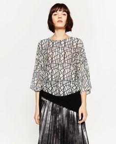 Imagem 2 de BLUSA ESTAMPADA da Zara