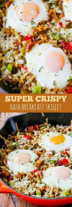 My secrets to making crunchy, golden brown shredded hash browns. This simple breakfast skillet is full of flavor and texture!