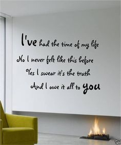 Dirty Dancing Quotes | WALL QUOTE DIRTY DANCING PATRICK SWAYZE ART STICKER