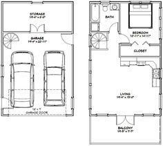 20x32 Tiny House -- #20X32H7F -- 785 sq ft - Excellent Floor Plans