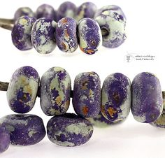 Glass lampwork beads Antiquities Pastry Plum by radiantmind, $12.00