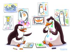 Private and Rico [Penguins of Madagascar] by sakutom on DeviantArt