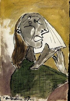 """Pablo Picasso - """"Weeping Woman"""". 1937"""