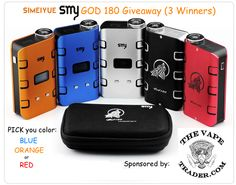Enter to win a free SMY GOD 180 box mod from @thevapetrader #thevapetradergiveaways