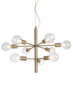 Ellos Home Loftlampe Galaxy Antik messing - Loftslamper Interior Lighting, Home Lighting, Chandelier Lighting, Brass Floor Lamp, Globe Lights, Home Decor Kitchen, Lamp Design, Living Room Interior, Pendant Lamp