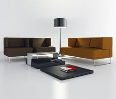 Sofa and chairs for lounge area
