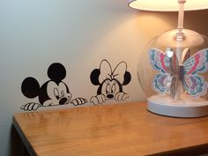 Mickey and Minnie Vinyl Wall Decal Disney wall decal sticker vinyl decal vinyl sticker wall art wall decal Disney wall art Disney decal by VinylMamashop on Etsy https://www.etsy.com/listing/269433510/mickey-and-minnie-vinyl-wall-decal