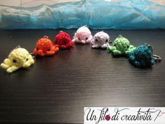 Portachiavi Polipi fatti a mano all'unicnetto. - Keychain crochet handmade polyps
