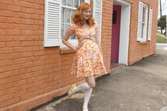Roxie Dress - Orange Penelope Paisley